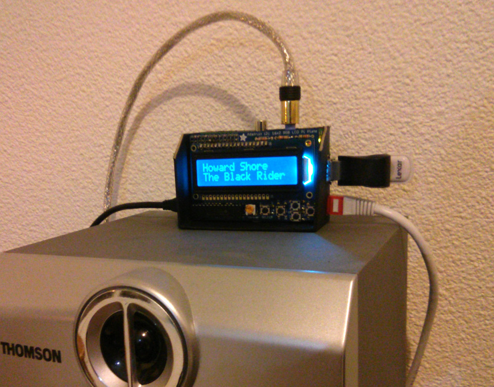 MPD clients for AdaFruit Character LCD Keypad on Raspberry
